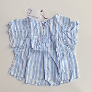 NWT Dex Girls Blue And White Stripped Stop size 3